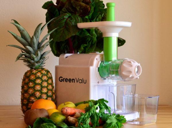 extractor de zumos de prensado en frío y baja velocidad